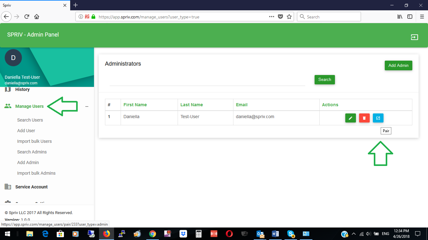 Spriv's Adaptive Two Factor Authentication control panel