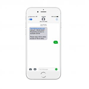 Two way SMS   Multi Factor Authentication
